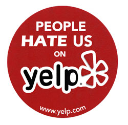 Now applicable to Yelp itself.