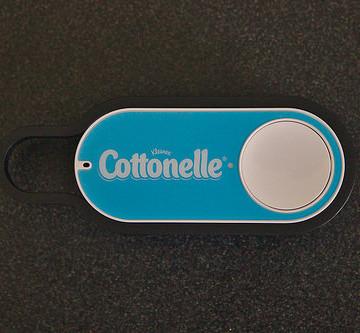 An actual, factual Amazon Dash Button.