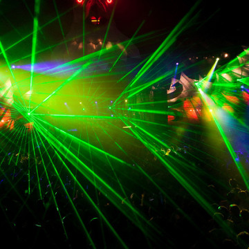 Sidel's technology is also available for totally sweet Laser Pink Floyd shows.