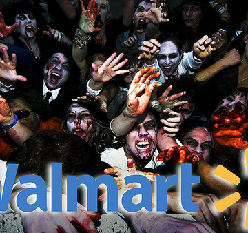 I'd say this is an accurate depiction of Walmart on Black Friday, but some of these people are smiling.